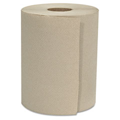 "GEN Hardwound Roll Towels, 1-Ply, Natural, 8"" x 800 ft, 6 Rolls/Carton"