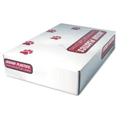 "Jaguar Plastics® Industrial Strength Low-Density Commercial Can Liners, 45 gal, 1.1 mil, 40"" x 46"", Gray, 100/Carton"