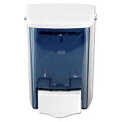 "Impact® Encore Foam-eeze Bulk Foam Soap Dispenser, See Thru, 900 mL, 4.5"" x 4"" x 6.25"", White"