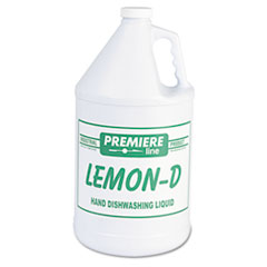 Kess Lemon-D Dishwashing Liquid, Lemon, 1 gal, Bottle, 4/Carton