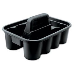 Rubbermaid® Commercial Deluxe Carry Caddy, 8-Compartment, 15w x 7.4h, Black