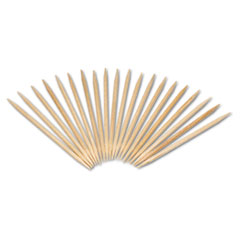 "AmerCareRoyal® Round Wood Toothpicks, 2 1/2"", Natural, 24 Inner Boxes of 800, 5 Boxes/Carton, 96,000 Toothpicks/Carton"