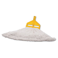 Rubbermaid® Commercial Finish Mop Heads, Nylon, White, Large