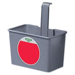 Unger® SmartColor Side Bucket, 1qt, Plastic, Gray