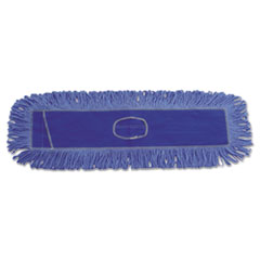 Boardwalk® Dust Mop Head, Cotton/Synthetic Blend, 36 x 5, Looped-End, Blue
