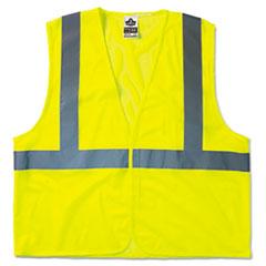 ergodyne® GloWear 8210HL Class 2 Economy Vest, Polyester Mesh, Hook Closure, Lime, L/XL