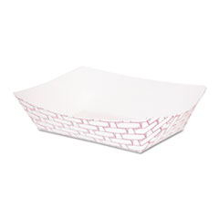 Boardwalk® Paper Food Baskets, 1 lb Capacity, Red/White, 1000/Carton