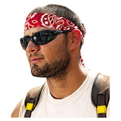 ergodyne® Chill-Its 6700/6705 Bandana/Headband, One Size Fits All, Red Western