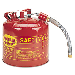Eagle® Type II Safety Can, 5 Gallon, Red, Metal Spout