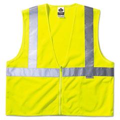 ergodyne® GloWear Class 2 Standard Vest, Lime, Mesh, Zip, Large/X-Large