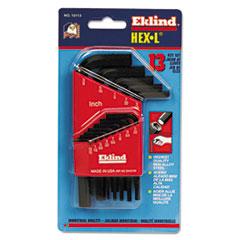 Eklind® 13-Piece Hex-L Key Set, Short-Arm, SAE