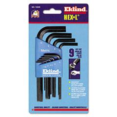 Eklind® 9-Piece Metric L-Wrench Hex Key Set, Short-Arm