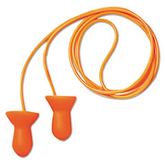 Howard Leight® by Honeywell Quiet Multiple-Use Earplugs, Corded, 26NRR, Orange/Blue, 100 Pairs