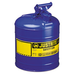 JUSTRITE® Type I Safety Can, 5gal, Blue
