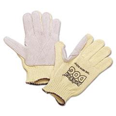 Honeywell Men's Junk Yard Dog Kevlar Gloves, Leather Palm, Yellow, Men's