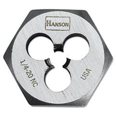 """IRWIN® High-Carbon Steel Fractional Hexagon Die, 1/4""""-20, 1"""" Diameter"""