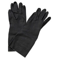 Boardwalk® Neoprene Flock-Lined Gloves, Long-Sleeved, X-Large, Black, Dozen BWK543XL