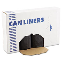 "Boardwalk® Low Density Repro Can Liners, 56 gal, 1.2 mil, 43"" x 47"", Black, 100/Carton"
