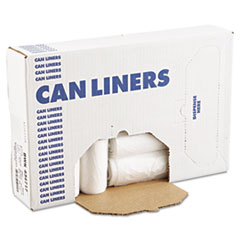 "Boardwalk® High-Density Can Liners, 56 gal, 14 microns, 43"" x 47"", Natural, 200/Carton"