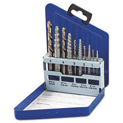 IRWIN® SAE Spiral-Flute Extractor/Drill Bit Set, 10-Piece