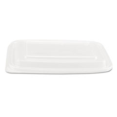 Genpak® Microwave Safe Container Lid, Plastic, Fits 24-32 oz, Rectangular, Clear, 75/Bag, 4 Bags/Carton