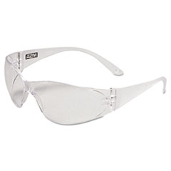 MSA Arctic Protective Safety Glasses, Clear Frame, Clear Lens