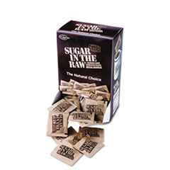 Sugar in the Raw Unrefined Sugar Made From Sugar Cane, 200 Packets/Box, 2 Boxes/Carton
