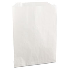 "Grease-Resistant Single-Serve Bags, 6"" x 7.25"", White, 2,000/Carton"