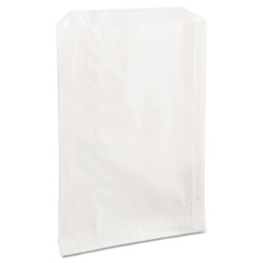 "Bagcraft Grease-Resistant Single-Serve Bags, 6.5"" x 8"", White, 2,000/Carton"