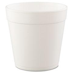 Dart® Foam Containers, 32 oz, White, 25/Bag, 20 Bags/Carton