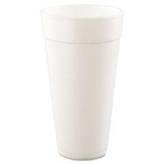 Dart® Foam Drink Cups, Hot/Cold, 24oz, White, 500/Carton