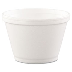 Foam Containers, 6oz, White, 50/bag, 20 Bags/carton