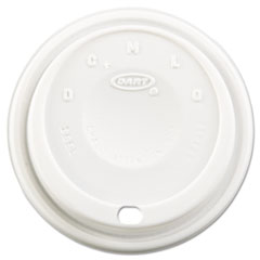 Dart® Cappuccino Dome Sipper Lids, Fits 12-24oz Cups, White, 1000/Carton