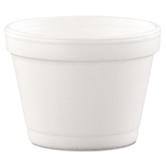 Dart® Bowl Containers, Foam, 4oz, White, 1000/Carton