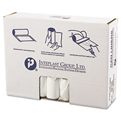 "Inteplast Group High-Density Commercial Can Liners Value Pack, 33 gal, 11 microns, 33"" x 39"", Clear, 500/Carton"