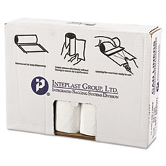 "Inteplast Group High-Density Commercial Can Liners Value Pack, 33 gal, 14 microns, 33"" x 39"", Clear, 250/Carton"