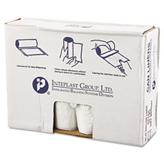 "Inteplast Group High-Density Commercial Can Liners Value Pack, 45 gal, 11 microns, 40"" x 46"", Clear, 250/Carton"