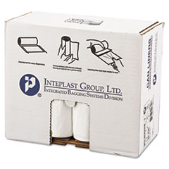 "Inteplast Group Low-Density Commercial Can Liners, 30 gal, 0.7 mil, 30"" x 36"", White, 200/Carton"