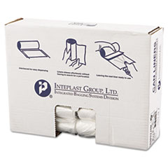 "Inteplast Group High-Density Interleaved Commercial Can Liners, 30 gal, 10 microns, 30"" x 37"", Clear, 500/Carton"