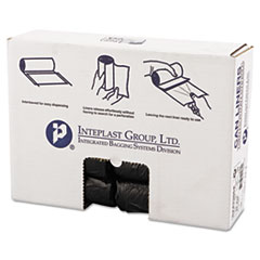 "Inteplast Group High-Density Commercial Can Liners, 16 gal, 6 microns, 24"" x 33"", Black, 1,000/Carton"