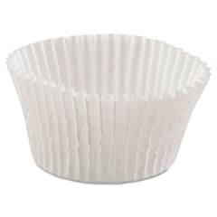 Hoffmaster® Fluted Bake Cups, 4 1/2 dia x 1 1/4h, White, 500/Pack, 20 Pack/Carton