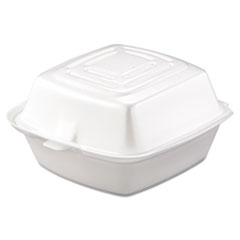 Dart® Carryout Food Container, Foam, 1-Comp, 5 1/2 x 5 3/8 x 2 7/8, White, 500/Carton