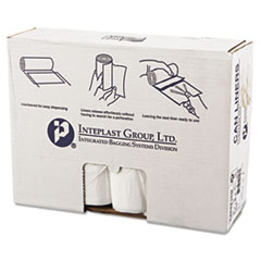 "Inteplast Group High-Density Interleaved Commercial Can Liners, 45 gal, 16 microns, 40"" x 48"", Clear, 250/Carton"