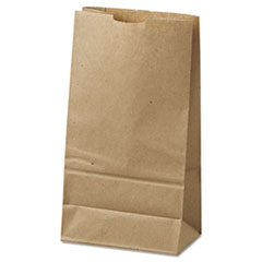 "General Grocery Paper Bags, 35 lbs Capacity, #6, 6""w x 3.63""d x 11.06""h, Kraft, 500 Bags"