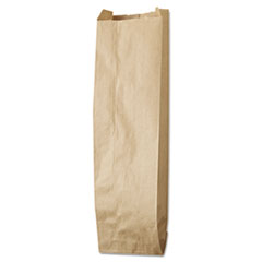 "General Liquor-Takeout Quart-Sized Paper Bags, 35 lbs Capacity, Quart, 4.25""w x 2.5""d x 16""h, Kraft, 500 Bags"