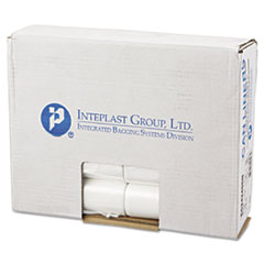 "Inteplast Group High-Density Commercial Can Liners, 10 gal, 6 microns, 24"" x 24"", Natural, 1,000/Carton"