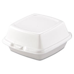 Dart® Carryout Food Containers, Foam, 1-Comp, 5 7/8 x 6 x 3, White, 500/Carton