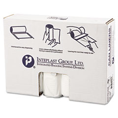 "Inteplast Group High-Density Interleaved Commercial Can Liners, 33 gal, 16 microns, 33"" x 40"", Clear, 250/Carton"