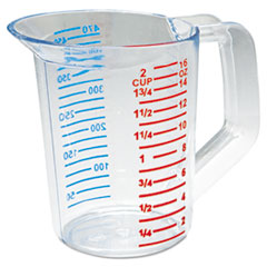 Rubbermaid® Commercial Bouncer Measuring Cup, 16oz, Clear