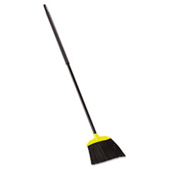 "Rubbermaid® Commercial Jumbo Smooth Sweep Angled Broom, 46"" Handle, Black/Yellow, 6/Carton"